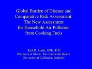 Global Burden of Disease + the Comparative Risk Assessment
