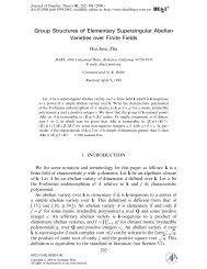 (Group Structures of Elementary Supersingular Abelian Varieties ...