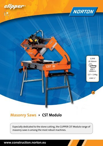 Masonry Saws CST Modulo - Norton Construction Products