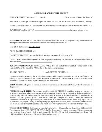 Commercial Purchase Agreement And Deposit Receipt