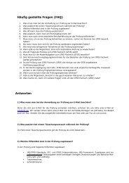 Häufig gestellte Fragen (FAQ) Antworten - GFIR