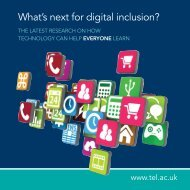 What's next for digital inclusion? - tel.ac.uk
