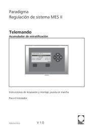 THES 2319 V1.0 0712 Telemando MES II Acumulador SI instalador