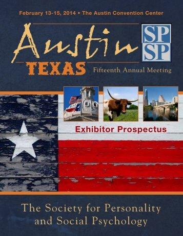 Exhibitor Prospectus - SPSP 2014!