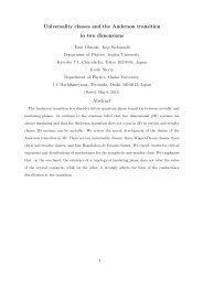 Universality classes and the Anderson transition in two dimensions ...
