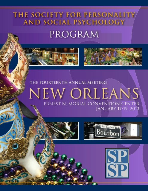 NEW ORLEANS - Society for Personality and Social Psychology