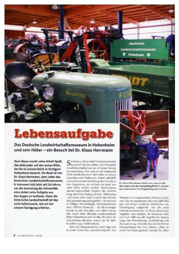 Bericht über das DLM in der Zeitschrift: Oldtimer - DLM Hohenheim