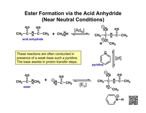 Ester Formation via the Acid Anhydride (Near Neutral Conditions)