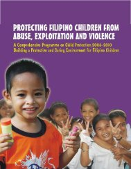 protecting filipino children from abuse, exploitation and violence