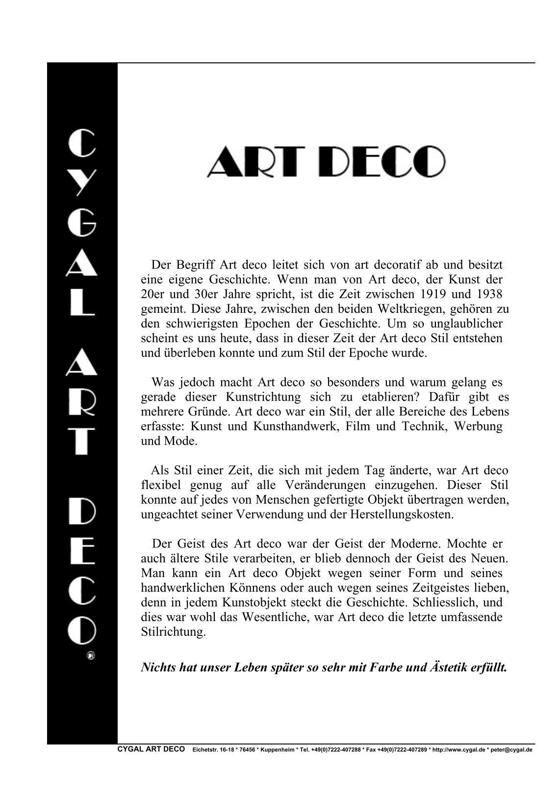 Art Deco Stil Mbel. Latest Artdeco Farben Gelb Metall Dekorieren ...