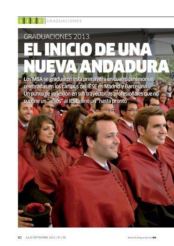 EL INICIO DE UNA NUEVA ANDADURA - revista iese.