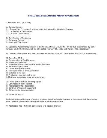 Application Form - WUP - Nigerian Mining Cadastre Office