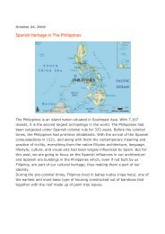 October 24, 2010 - Philippine Culture: Overview Culture
