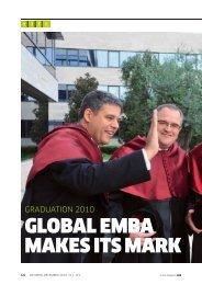 GLOBAL EMBA MAKES ITS MARK