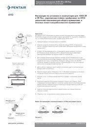 Инструкции по установке и эксплуатации для AVID ZR и ZR Plus ...