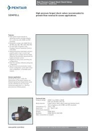 High pressure forged check valves recommended to prevent flow ...