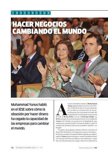 HACER NEGOCIOS CAMBIANDO EL MUNDO - revista iese.