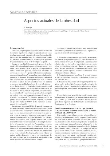Aspectos actuales de la obesidad - Elsevier