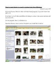 Vejledning i afsendelse af foto i e-mail i original størrelse