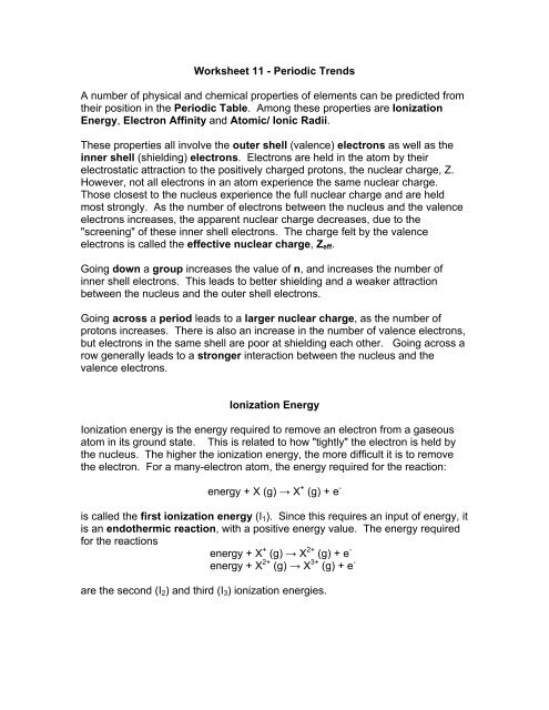 Worksheet 11 - churchillcollegebiblio
