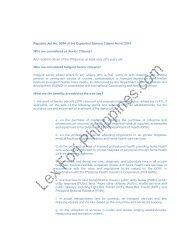 Republic Act No. 9994 of the Expanded Seniors Citizen Act of 2010 ...