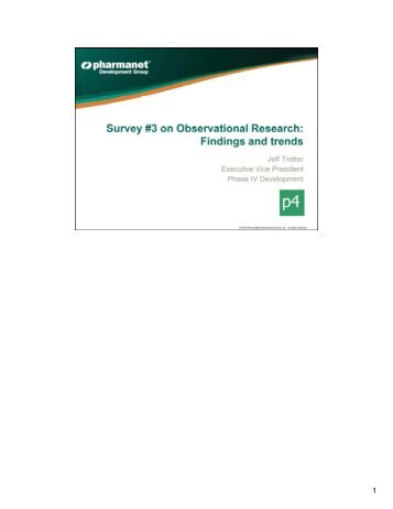 Observational Research Findings and Trends from PharmaNet ...