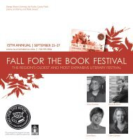 Download a PDF of this year's festival program - Fall for the Book