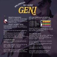 Rock & Pop Geni rules - Egmont Serieforlaget