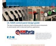 Control Panel Design Guide - Klockner Moeller Parts