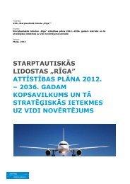 """starptautiskās lidostas """"rīga"""" attīstības plāna 2012. - Riga ..."""