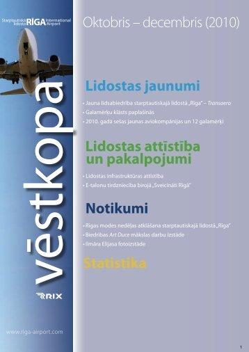 Oktobris – decembris (2010) - Riga International Airport