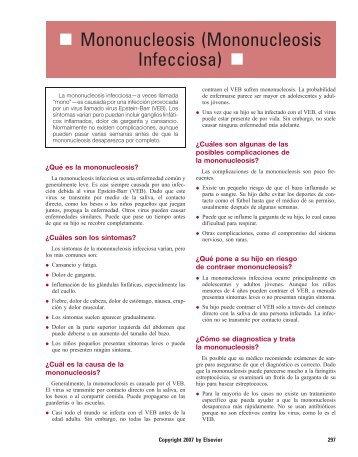 Mononucleosis (Mononucleosis Infecciosa) - Impcna.com