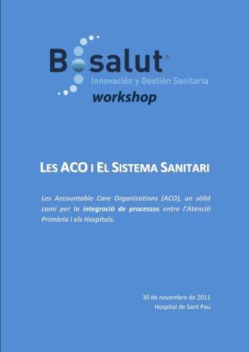 B·Salut Workshop ACO i Sistema Sanitari - FoCAP