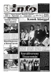 Szavalóverseny Tiszacsomán - Kárpátinfo.net