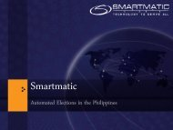 Smartmatic - Elections How to Manage A Complex Project