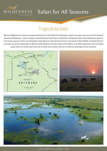 Safari for All Seasons - Wilderness Safaris