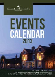 Events Calendar 2013 - Bespoke Hotels