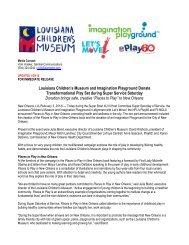 Louisiana Children's Museum and Imagination Playground Donate ...