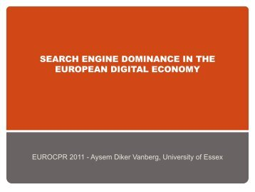 search engine dominance in the european digital economy - EuroCPR