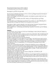 Bestyrelsens beretning til stævne 2008 i Nordborg. Af ...