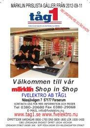 Välkommen till vår Märklin Shop in Shop - FV Elektro AB
