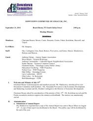 September 21, 2011 Meeting Minutes - Downtown Committee of ...