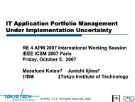 IT Application Portfolio Management Under ... - Is.me.titech.ac.jp