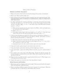 Midterm 2 Review Worksheet Radiation and Stellar Atmospheres 1 ...