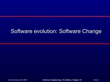 Software change - ESSeRE