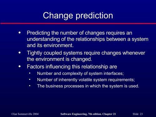 Software change - ESSeRE