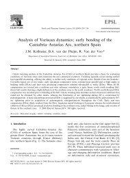 Analysis of Variscan dynamics - Global Change - University of ...