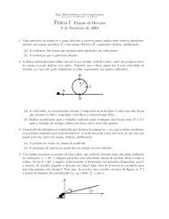 F´ısica I– Exame de Recurso 3 de Fevereiro de 2004