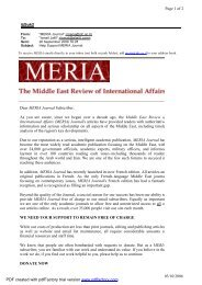 ij@uk2 Page 1 of 2 03/10/2006 Dear MERIA Journal Subscriber, As ...