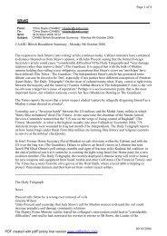 ij@uk2 Page 1 of 8 09/10/2006 CAABU British Broadsheet Summary ...